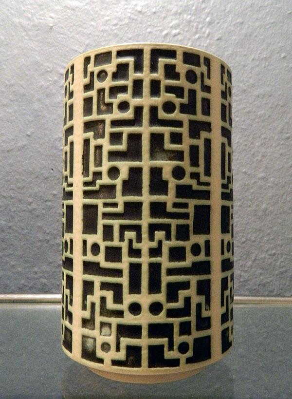 Hamelner Töpferei, Vase mit Reliefdekor, Peter Delius