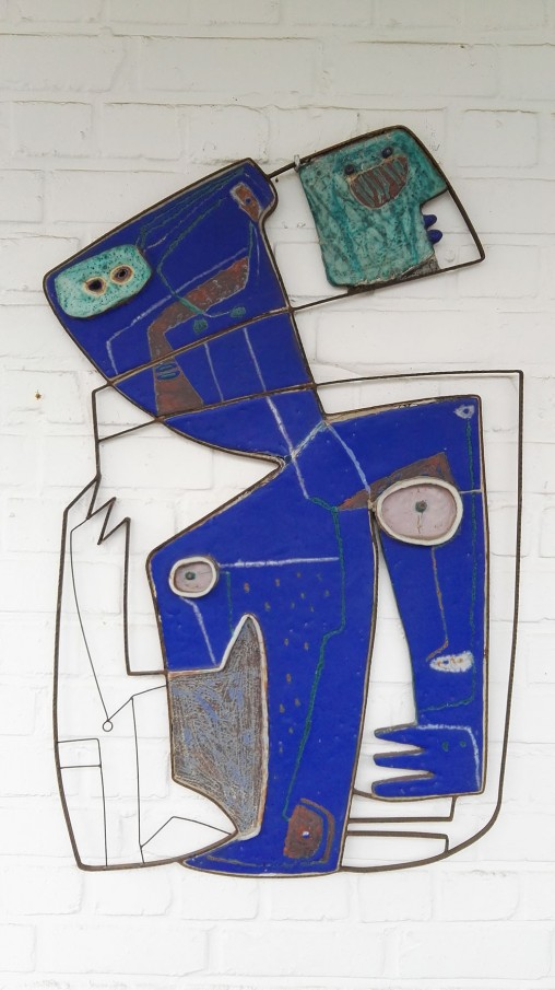 Beate Kuhn Keramik Wandskulptur